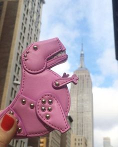 Our t-rex coin purse is having a godzilla moment!! from @katespadeny's closet