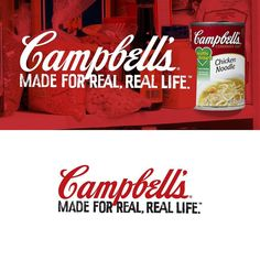 I designed the tag line for @campbells first new campaign in years. It was amazing to work with the team at BBDO and Campbell's to help revitalize an American icon.