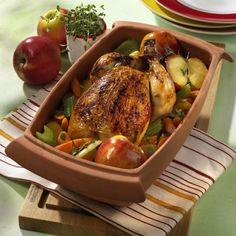Unser beliebtes Rezept für Cidre-Huhn aus dem Römertopf und mehr als 55.000 weitere kostenlose Rezepte auf LECKER.de.