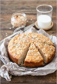 Torta di soli albumi con yogurt e miele – Panelibrienuvole Cookbook Recipes, Cake Recipes, Dessert Recipes, Desserts, I Love Food, Good Food, Yummy Food, Biscotti, Happy Foods