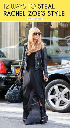 Rachel Zoe is a major style icon. Here are 12 ways to steal her style with pieces you may already own. #rachelzoe #celebstyle