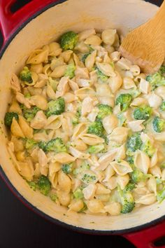 Creamy+Broccoli+Chicken+Shells+and+Cheese