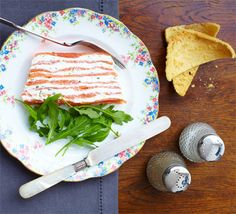 A show-stopping layered fish centrepiece with cream cheese and lemon filling, flavoured with dill and chives