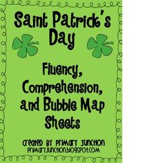 St. Patrick's Day Fluency, Comprehension, and Bubble Map Sheets Freebie. This Saint Patrick's Day packet includes fluency passages with comprehension questions and bubble maps.