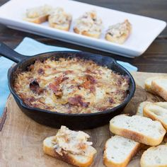 Hot Caramelized Onion with Bacon and Gruyere