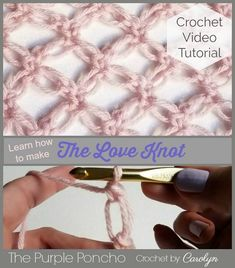 In this tutorial, I will show you how to crochet the Love Knot Stitch, also known as the Solomon's Knot. Once completed, it makes a very delicate and lacy fabric. It can be made in any yarn a…