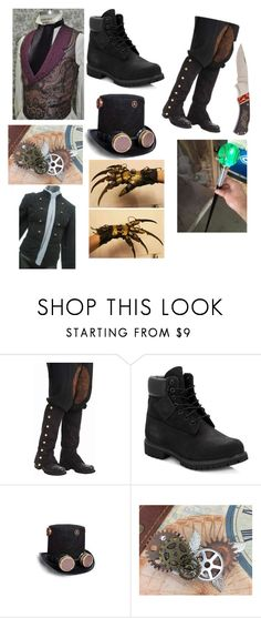 """Fox the Steampunker"" by yourpalspoopsies ❤ liked on Polyvore featuring Forum Novelties, Timberland, Cathy's Concepts, men's fashion and menswear"
