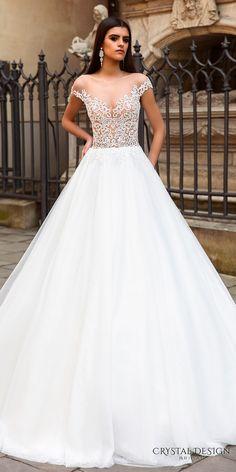crystal design bridal 2016 off the shoulder v neck heavily embellished bodice beautiful princess a line ball gown wedding dress chapel train (vermont) fv