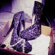 Purple Diamond Shoes...absolutely amazing!
