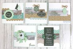 Quick and Easy Set of 10 Mint Wishes Christmas Cards with Instructions Scrapbook Journal, Scrapbook Page Layouts, Scrapbooking, Card Making Tutorials, Making Ideas, Mint, Cata, Handmade Christmas, Christmas Cards