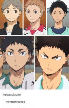 The mom squad | Mä tykkään ajatella, että iwaizumi on isä, mutta pitää huolta lapsista ja Oikawa on vaan hyödytön äiti