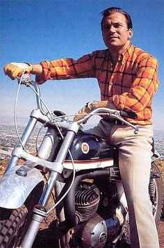 Young William Shatner on a Montesa