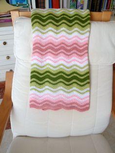 Crochet Blanklet. Ripple Stitch