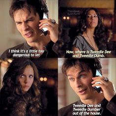 """@thevdpost's photo: """". Tvd and Tweedle Dee and Tweedle Dumb.  #tvd #thevdpost5x19spam #thevdpostparalells"""""""