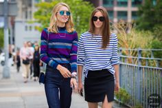 Jessica Minkoff and Mallory Schlau Street Style Street Fashion Streetsnaps by STYLEDUMONDE Street Style Fashion Photography
