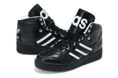 brand new fa156 67f23 Stylish Mens Jeremy Scott Adidas JS Instinct Hi Black Shoes For