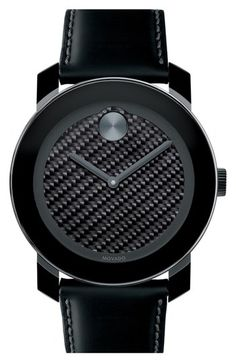 Movado 'Bold' Carbon Fiber Dial Watch, 42mm available at #Nordstrom