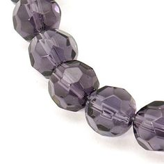 Full Strand Eggplant dark Plum Purple Faceted by BeadFindingUtopia, $4.70