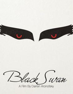Black Swan A film by Darren Aronofsky Black Swan Movie, Black Swan 2010, Badass Movie, Love Movie, Minimal Movie Posters, Minimal Poster, Creative Poster Design, Creative Posters, Movie Poster Art