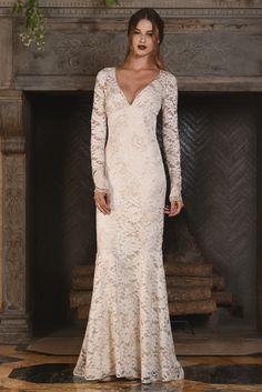 Claire Pettibone Bridal Week Fall 2017 - http://www.stylemepretty.com/2016/10/12/claire-pettibone-bridal-week-fall-2017-wedding-dresses/