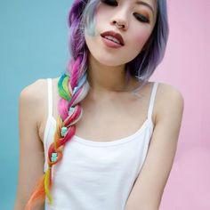 Gorgeous rainbow braid