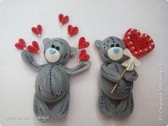 С ПРАЗДНИКОМ СВЯТОГО ВАЛЕНТИНА!!! Магниты - Мишки Тедди. | Страна Мастеров