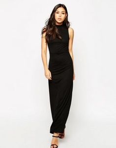 ASOS Column Maxi Dress With High Neck
