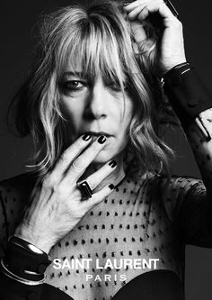 File this one under things we saw coming: Courtney Love is the face of Hedi Slimane's latest campaign for Saint Laurent. And so is Kim Gordon, Marilyn Manson, and Ariel Pink. Hedi Slimane sure does love a rock star. Kim Gordon, Ysl, Hedi Slimane, Toni Braxton, Courtney Love, Sandra Bullock, Divas, Yves Saint Laurent, Bianca Jagger