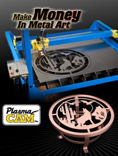 See why people prefer PlasmaCAM's affordable CNC Plasma Cutting Table. This is the best plasma cutting machine for creating metal art, custom auto parts, or any other metal shape you may need! Metal Art Projects, Welding Projects, Cnc Plasma Table, Plasma Torch, Welding For Beginners, Plasma Cutter Art, Cnc Engraving Machine, Custom Metal Art, Hobby Cnc