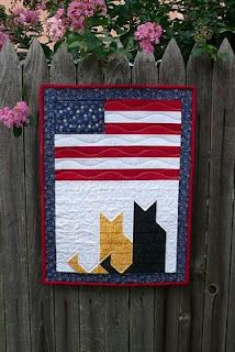 Purrfect Patriotic Quilt, made by Renata.