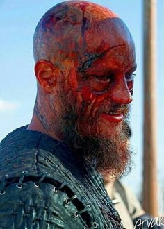 Ragnar after a brutal fight - Vikings