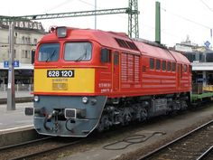 628  MAV Ungarn Diesel, Japan Train, Rail Train, Europe, World, Vehicles, Travel, Yellow, Locomotive