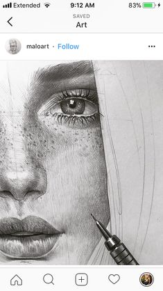 Drawing tips for a wonderful Portrait. Amazing Drawings, Realistic Drawings, Amazing Art, Pencil Art Drawings, Drawing Sketches, Drawing Tips, Sketching, Illustration Art Dessin, Portrait Sketches