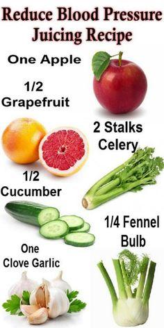 Reduce blood pressure juice : maybe sub fennel for lemon?