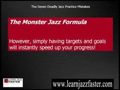 The Seven Deadly Jazz Practice Mistakes, #1 - Are You Making This Deadly Mistake? - YouTube