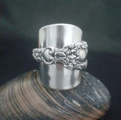 Silver Spoon Ring - crafted from a Sterling Silver Gorham Imperial Teaspoon Chrysanthemum Pattern 1894 - Handmade by Adrift Crafts by AdriftCrafts on Etsy