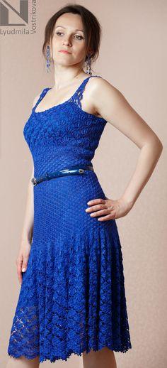 вечернее вязаное платье, вязаное платье, красивое вечернее платье
