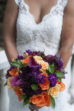 Color bridal bouquet by Flowers by Diane | Naninas In The Park, Northern NJ | Studio A Images