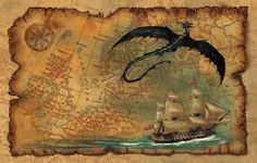Pirate Map wallpaper by Fantasy Kunst, Fantasy Map, Vintage Maps, Antique Maps, Ancient Maps, Map Compass, Pirate Maps, Art Carte, Map Wallpaper