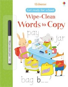 Usborne Wipe-Clean Words to Copy