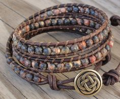 Leather Earrings, Leather Jewelry, Beaded Jewelry, Beaded Bracelets, Handmade Jewelry, Wrap Bracelets, Crochet Bracelet, Pandora Bracelets, Boho Jewelry