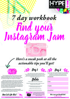 Are you struggling to make Instagram work for you? This workbook takes you through 7 easy steps for you to implement over the course of 7 days. Click through to download and start making Instagram your Jam!