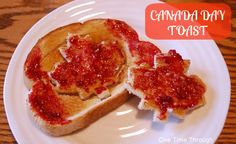 Canada Day Toast with maple leaves! Easy and fun recipe for Canada Day morning! {One Time Through} Preschool Summer Camp, Summer Daycare, Kids Daycare, Toddler Crafts, Toddler Activities, Toddler Stuff, Summer Activities, Kid Stuff, Happy Birthday Canada