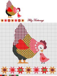 Ne yapayım, çoğunuz gibi ben de tavuk, horoz, civciv üçlemesini çok seviyorum :))) Designed by Filiz Türkocağı...