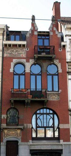 Art Nouveau - Maison 'Les Hiboux' - Bruxelles Édouard Pelseneer - 1899