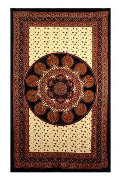 Sunshine Joy® Paisley Mandala Indian Tapestry - 60x90 Inches - Hippie Dorm Decor - Beach Sheet - Hanging Wall Art Sunshine Joy http://www.amazon.com/dp/B0038QZBFC/ref=cm_sw_r_pi_dp_Xa29tb0TCP4N3