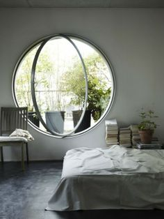 Windows to the World via Blood & Champagne. Round window that opens -- really would like this