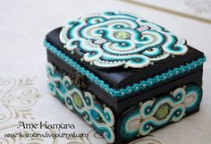 jewelry  box Soutache by AmeKamura.deviantart.com on @deviantART