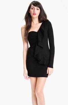 Ruffle Black One Shoulder Dress Cheap Summer Dresses, Short Dresses, Black One Shoulder Dress, Womens Cocktail Dresses, Nordstrom Dresses, Peplum Dress, My Style, Party Dresses, Number