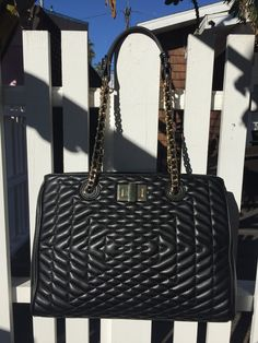 """Our new holiday16 collection!  Don't miss this Naomi Quilted Chain Satchel!  In buttery soft vegan leather with geo quilted details.  Shop all 88 fall collection at 88-eightyeight.com, also available on Amazon """"88 handbags"""" or by clicking the link in our bio."""